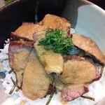 16193509 - 牛はらみステーキ丼セット¥1000(H24.12.4撮影)