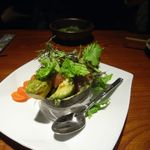 16216785 - アボカドと鮪の山葵醤油和え