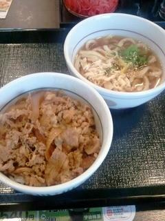 なか卯 - 和風牛丼&鶏ゆずうどん