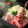 薩摩ごかもん - メニュー写真:黒毛和牛と紅豚のごかもんすき焼き