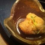 16236540 - すっぽん雑炊の小鉢(白身魚の南蛮漬け)