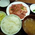 16256693 - 国産牛カルビランチ肉大盛