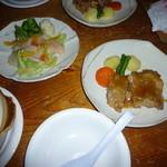 ペンション JAZZ倶楽部 - 料理写真:夕食メニュー(肉・野菜)