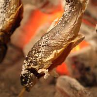 方舟名物 南魚沼産岩魚の囲炉裏焼き