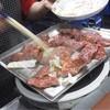 赤新 - 料理写真:サガリ…  目の前の鉄板で