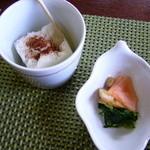 小安丸 - お漬物とデザート