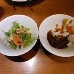 馳走三昧 - カレー・サラダ