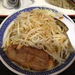 山岸一雄製麺所 - 角ふじ麺 ヤサイちょい増しカラメ