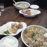 新華苑 - 料理写真:日替わり定食 チャンポン、から揚げ3個、ご飯