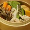 やきとり 土筆 - 料理写真:【冬のイチオシ】栄養満点の蒸し野菜は特製アンチョビソースでどうぞ