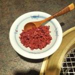 大平楽 - ホルモン鍋に付く唐辛子