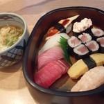 すし市場 正 - 寿司ランチ うどん付き