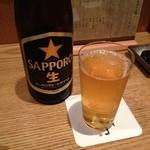 串揚げ 串亭 神楽坂 - 瓶ビールで今週もお疲れ様です!