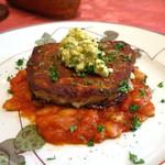 キノシタ - 香ばしく焼いたフロマージュ・ド・テッド~豚のゼリー寄せ~白インゲン豆のトマト煮込みと香草のソースを添えて