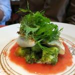 キノシタ - 野菜を詰め物をしたヤリイカのポワレと真ダコのジェノベーゼ、サラダに仕立てて