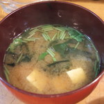 割烹ちゃんこ 大内 - 味噌汁