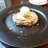 グリル&バー 流 - 料理写真:栗のロールケーキ カルヴァドスレーズンのアイス添え