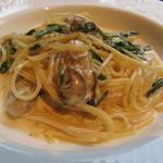 ランズ カマクラ - 広島から来た牡蠣と本日の鎌倉野菜のパペッティーネクリームソース