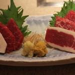 祇園 馬春楼 - 桜刺身五種盛り合わせ