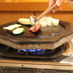 祇園 馬春楼 - 桜焼肉溶岩焼き