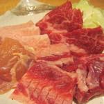 焼肉割烹藤吉 - 焼き肉定食1000円ロース、カルビ、鶏肉