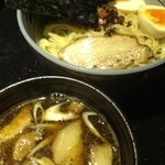 めじろ - 特上醤油つけ麺 1000円 201208