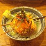 ピッコロラモ - 串かつ・・・ゴマ豆腐と湯葉の変り串・・・かな