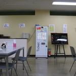 厚木市役所食堂 - 食堂中央部の券売機