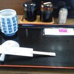 八王子総合卸売センター 市場寿司 たか - 201212 たか 初期Settingです。箸枕兼用の醤油皿が面白いね♪