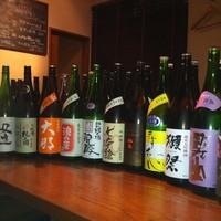 日本酒40種類以上こだわりがあります。