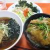 厚木合同庁舎食堂 - 料理写真:穴子天丼狐蕎麦セット480円