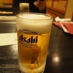 割烹 丸清 - 生ビール