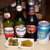 レストラン ザクロ - 料理写真:EFESのNormal(白)、Dark(黒)、Almaza、Celtia(各500円が半額の250円)
