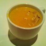 小皿イタリアン バロンドール - +250円でセットにできるスープ。今日はかぼちゃのポタージュ。なみなみだよw