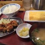 天六食堂 - 唐揚とタマゴ焼き定食