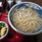 讃松庵 - 釜揚げ 麺半分