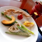 蕎麦ダイニング エルニド - 料理写真:バーニャカウダ