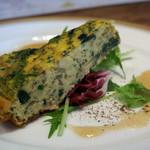 イノーヴェ - 2)真牡蠣とほうれん草のスペイン風オムレツ