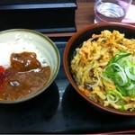 そば うどん 萩 - 2012.12野菜かき揚げそば(360円)+ミニカレー(200円)