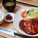 エンジョイ・カフェ - 洋風チーズハンバーグ定食