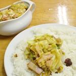 夢民 - ベーコンエッグ野菜トマト(最後の一食)