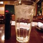 おおはし - お冷のグラスが大きいです