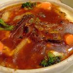 イタリア厨房 シュン・ヨコハマ - 「じっくり煮込んだビーフシチューと温野菜のドリア」アップ