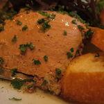 ビストロ・ソングラム - 前菜盛合せ:トリュフ香るポルチーニ入りポテサラ、根菜のラタトゥイユ、白カビのサラミ、白レバーのムース5