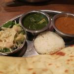 インド&ネパールレストラン&バー サグン - Bランチのカレー、サラダ、ライス