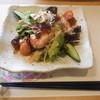 桃 - 料理写真:プリプリ海老がアボカドと合う合う 黒酢ジュレは独特のえぐさを旨く緩和できてて個人的に良かったです