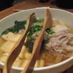 豚菜健美 とこ豚 - 松阪ポークの豚しゃぶ(温)うどん \780