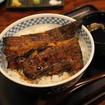 しげ吉 - 2012.12 うなぎ丼並(2,500円)肝吸物、漬物付