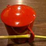 夛左ヱ門 - 蕎麦湯と竹のマドラー