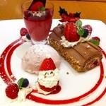 神戸風月堂カフェ - クリスマスデザートプレート